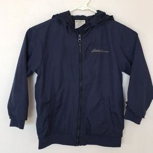 Boy's Eddie Bauer Navy Blue Full Zip Sz - M (5/6)